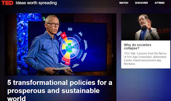 Página de entrada da TED.