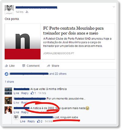 mourinhoFacebook